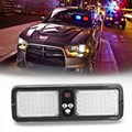5W LED Sun Visor Car Truck Warning Light Strobe Flashing Beacon Emergency Lights 12V Fog Fireman Lamp Blue Red