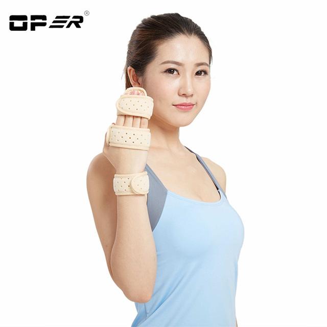 Oper apoyo de la ayuda de muñeca mano dedo férula de aluminio fijador del síndrome del túnel carpiano fractura pulseras médicas de dolor de la artritis
