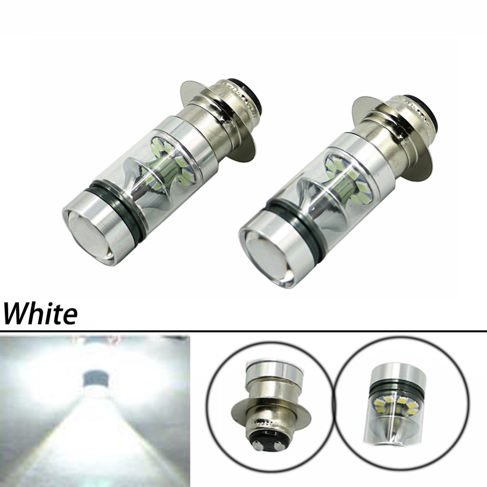 100W Super White LED Headlights Bulbs Low High Beam For Yamaha GRIZZLY 660 400 450 350 125