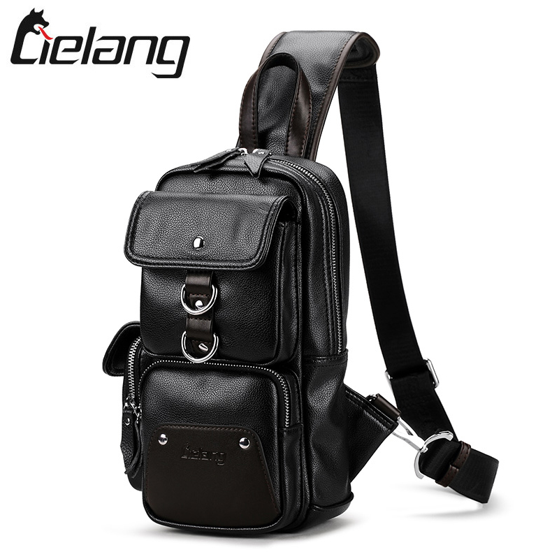 LIELANG Leather Crossbody Bags for Men Messenger Chest Bag 2017 New Fashion Casual Bag Waterproof PU Single Shoulder Bags цены онлайн
