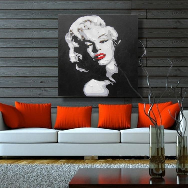 US $8.8 8% OFFSexy Marilyn Monroe Home Decor Canvas Wall Pictures For  Living Room Decoration Wall Art Oil Paintings No Frame 8%  Handmadepicture