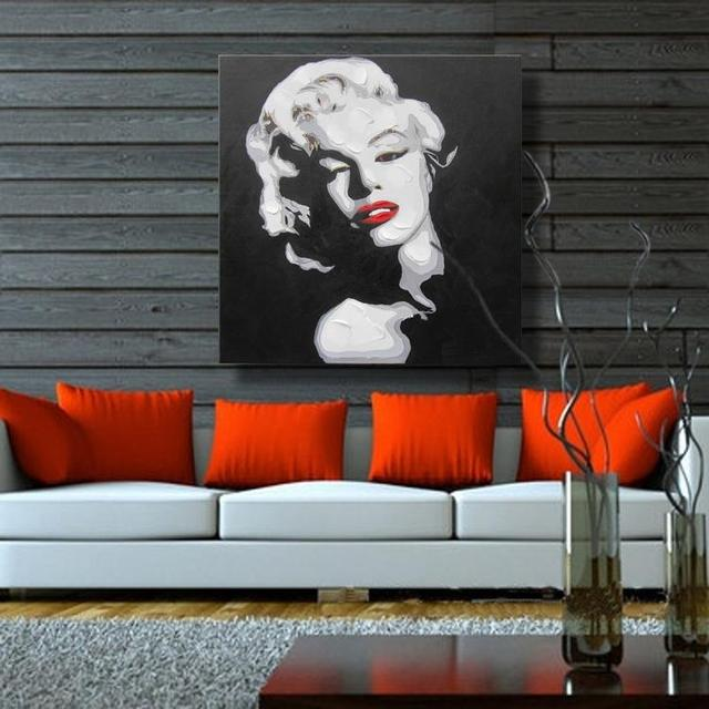 Sexy Marilyn Monroe Home Decor Canvas Wall Pictures For Living Room  Decoration Wall Art Oil Paintings