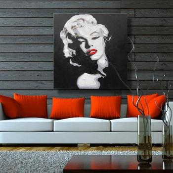 Sexy Marilyn Monroe décor à la maison toile mur photos pour salon décoration mur Art peintures à l'huile pas de cadre 100% à la main