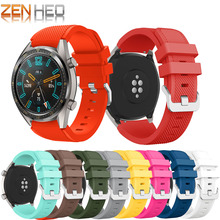 22mm Wrist Strap for Huawei Watch GT Silicone Bands For Honor watch Magic Replacement Bracelet Band Smart Accessory