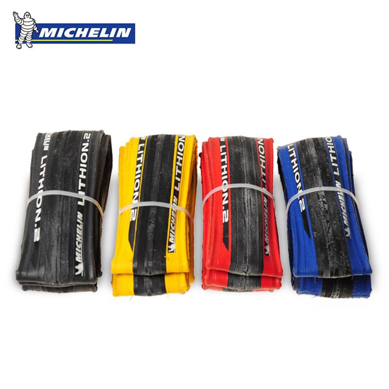 Prix pour D'origine Michelin LITHION 2 Vélo De Route Pneus 700 * 23C Crevaison 260g lumière 700C Bleu Rouge Noir Jaune pneu Vélo de pneu de bicyclette