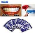 Genkent 7 Pacotes de Produtos de Higiene Oral escova de Dentes Clareamento Dental Branqueamento Tiras de Clareamento Profissional Duplo Branco Gel Dental Care