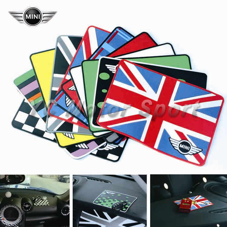 Union Jack Auto Rubber Telefoon Antislipmat Skid Pad Fit Voor Mini Cooper R55 R56 R57 R58 R59 auto-styling