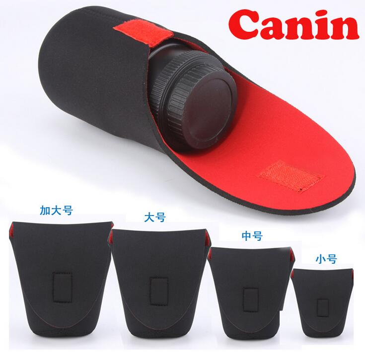 Neoprene Waterproof Soft Video Camera Lens Pouch Bag Case Full Size S M L XL XXL For Canon Nikon Sony Red Black Wholesale