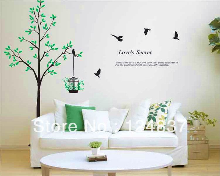 60cm90cm Brids And Tree Wall Stickers Wall Art Removable Sticker Poster  Decals Art Diy Home Wall Decor Waterproof In Wall Stickers From Home Garden  On Part 59