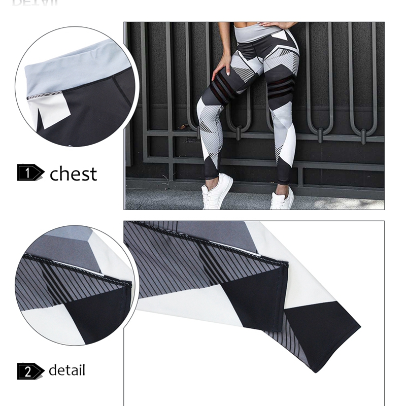 2019 Sexy Fitness Yoga Sport Pants Push Up Women Gym Running Leggings jegging Tights High Waist print Pants Joggers Trousers