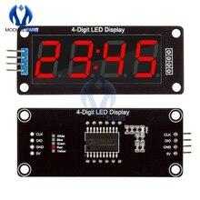TM1637 4-разрядный 0,56 красный цифровой светодиодный Дисплей трубки, десятичная система 7 сегментов часы с двойным точки модуль 0,56 дюймов для Arduino