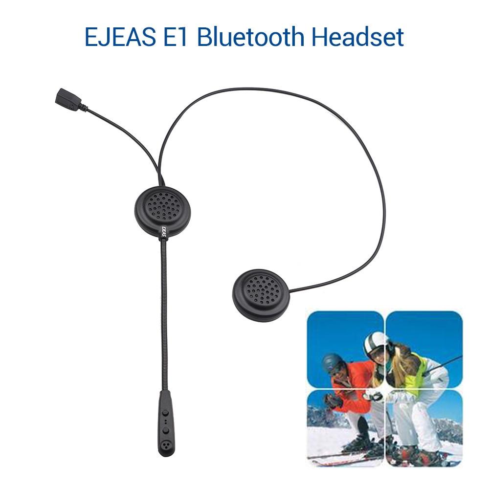 EJEAS E1 Bluetooth Motorbike Handsfree Headset Headphone Motorcycle Helmet Headset  Music FM MP3