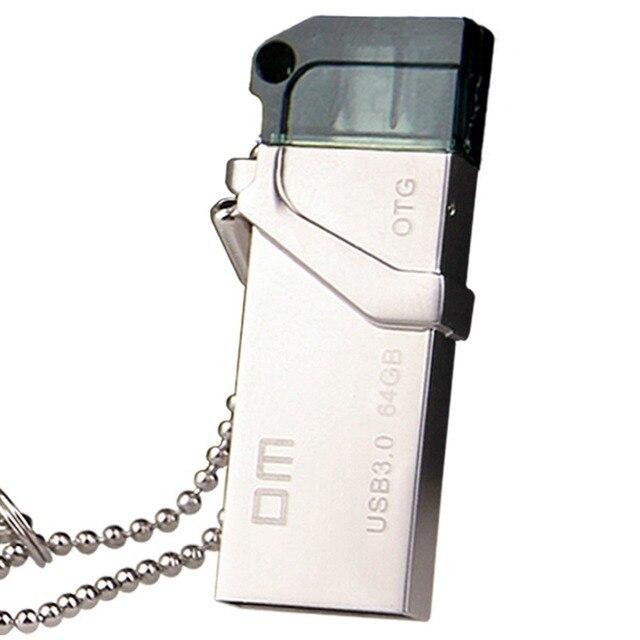 Бесплатная доставка DM OTG USB PD006 USB3.0 64 Г с двойной разъем используется для смарт-телефон и компьютер 100% водонепроницаемый металлический материал