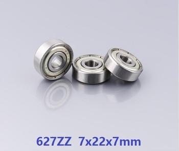 500pcs/lot 627ZZ 627-ZZ 627 ZZ 2Z 7*22*7mm Deep Groove Ball bearing Miniature  7x22x7mm 627Z
