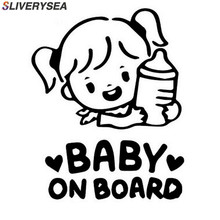 SLIVERYSEA Baby Girl On Board 3D Car Stickers Motorcycle Decals Vinyl Window Stickers Car Styling #B1069 car styling cool flying eagles with wings car stickers bird hawk motorcycle bike decals auto window tail bumpers