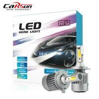 2Pcs Lot H4 Cob Led Car Headlight Bulb 8000LM 6000K Headlights Bulbs 12V Hi Lo Beam