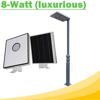 8W All In One LED Solar Street Lights Waterproof Outdoor Easy Installation12V LED Lamp for Solar Home Lighting System luxurious