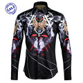 Gothic fashion male shirt trend shirt men's slimfashion City shirt
