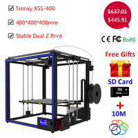 Upgrade Tronxy X5S 400*400*400mm 3D printer Kit Dual Z axis High Precision Aluminum Stable Printing Tronxy Large 3D printer DIY