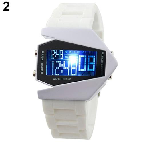 Cool Men's Oversized Design Light Digital Sports Plan Shaped Dial Wrist Watches 10