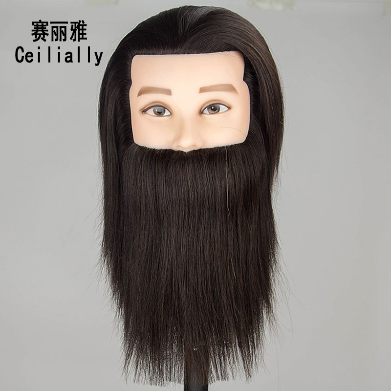 Tête d'entraînement de Mannequin masculin de cheveux humains de 10