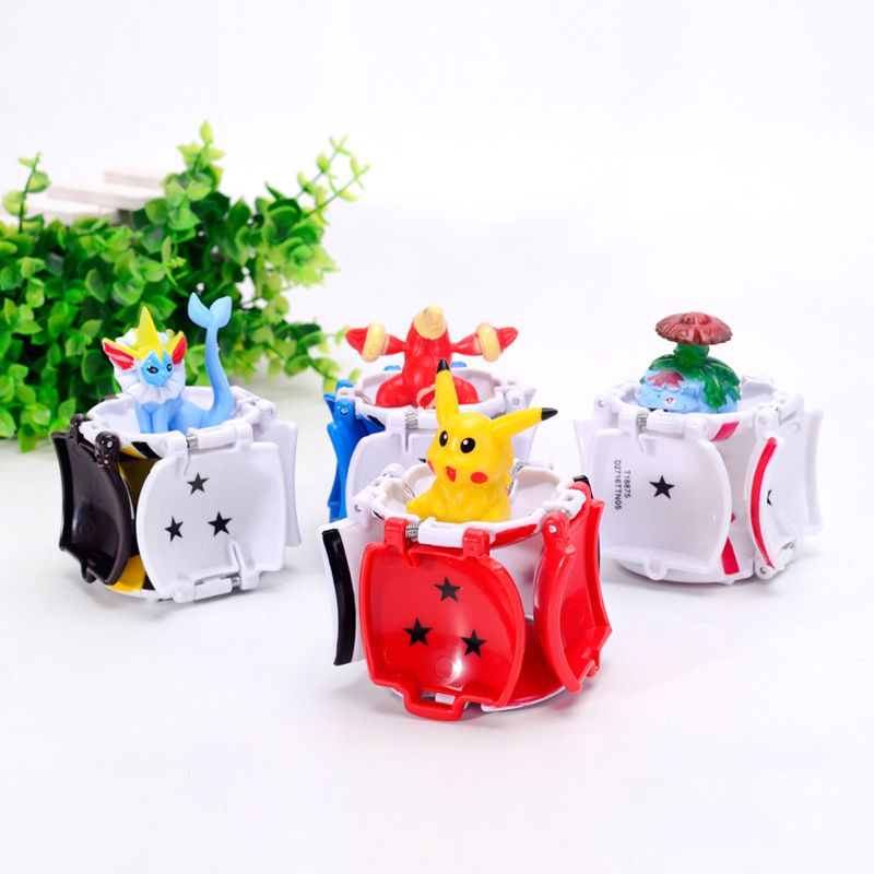4Pcs Lot Elf Grasping The Poke Ball Toys Pikachues Elf Ball Balls 7cm super cub educational toys children in Action Toy Figures from Toys Hobbies