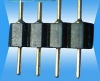 1000pcs Single In-line Pin;black 0.6 round needle distance 2.54
