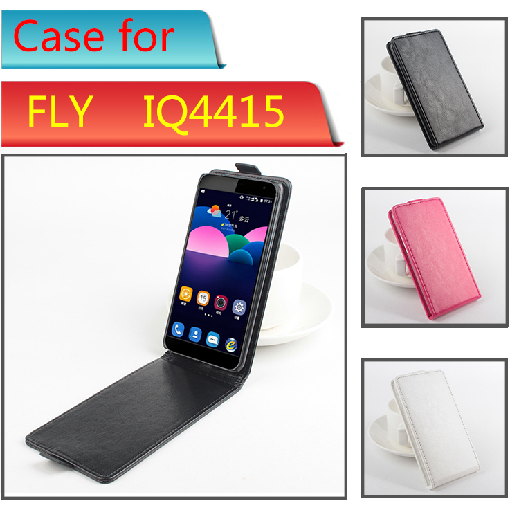 DIY Flip Leather Mobile Phone Cases For fly iq4415 quad era style 3 Cover PU Leather Case for IQ 4415 With Vertical Magnetic