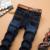 2016 SULEE Marca Ripped Jeans Hombres Casual Moda Clásica Masculina del Dril de algodón Pantalones Vaqueros de Los Hombres Rectos Masculinos Vaqueros Rayados Homme
