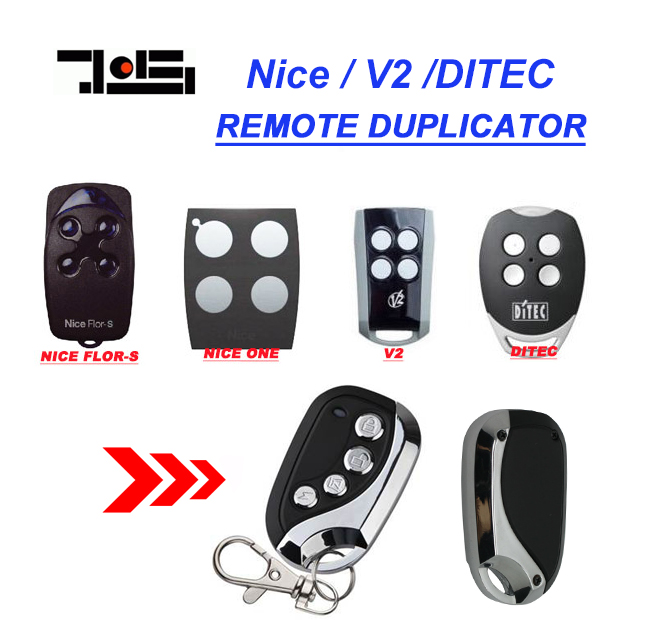 V2, Ditec GOL4, Nice Flors, Nice One compatible Remote Control duplicator Fob 433.92MHz rolling code top quality v2 replacement remote control transmitter 433mhz rolling code top quality