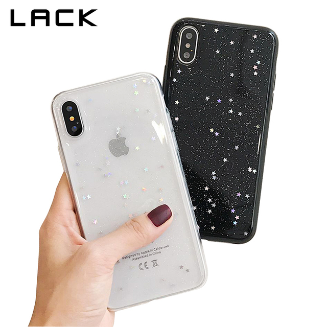 best cheap 21935 64872 US $1.74 32% OFF|LACK Bling Glitter Soft Phone Case For iphone X Case  Fashion Cute Star Back Cover Love Heart Shining Powder Cases For iphoneX-in  ...
