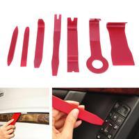 Plastic Purple Red 7Pcs Set Car Interior Dash Radio Door Clip Panel Trim Open Removal Tools