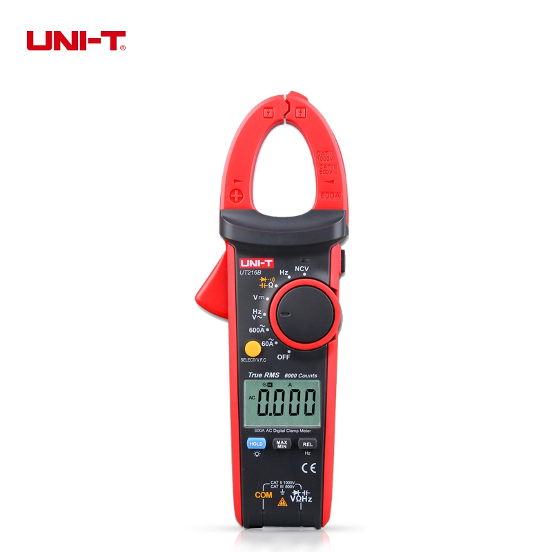 цены на UNI-T UT216B True RMS Digital Clamp Meters Auto Range NCV V.F.C Diode LCD Backlight 6000 Display Count в интернет-магазинах