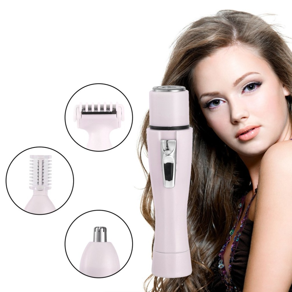 Women's Electric Lady Shaver Portable Pink Stainless Steel Grooming Shaver Razor For Legs Eyebrow Shaper Trimmer Hair Remover
