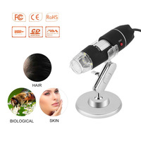 Practical Electronics 2MP USB 8 LED Digital Camera Microscope Endoscope Magnifier 50X 500X Magnification Measure Free