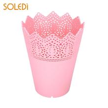 Buy pink plastic flower pots and get free shipping on aliexpress desk tidy holder lace plant vase pot flower pots contemporary economic pink whiteblue mightylinksfo