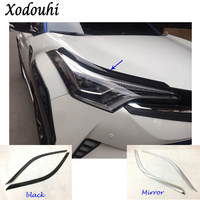 For Toyota C HR CHR 2017 2018 Car Body Head Front Eyebrow Trim Light Lamp Frame