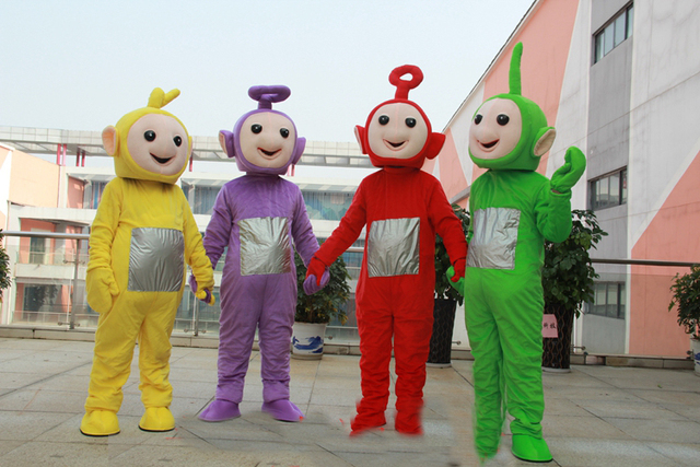 2018 adult cute teletubbies mascot costume multiple color fancy dress festive clothing adult cute halloween teletubbies