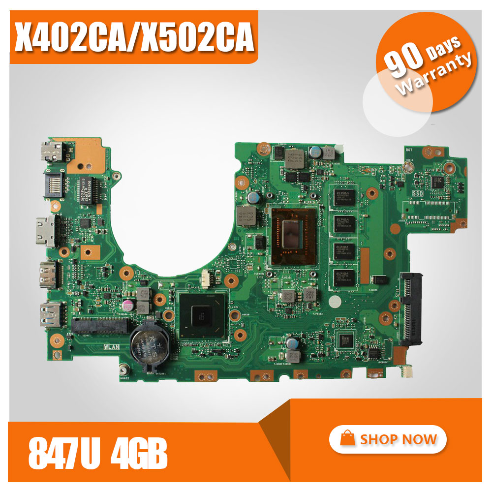 X502CA Laptop Motherboard X402CA REV2.1 with 847cpu 4g for ASUS Mainboard Fully tested hot for asus x551ca laptop motherboard x551ca mainboard rev2 2 1007u 100% tested new motherboard