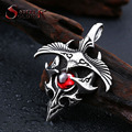 Steel soldier 2015 new products stainless eagle with stone pendant men and women good detail necklace pendant BP8-097
