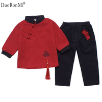 Winter Baby Girls Clothes Long Sleeve Newborn Baby Girl Clothing Sets Chinese Style Coat Pant 2pcs