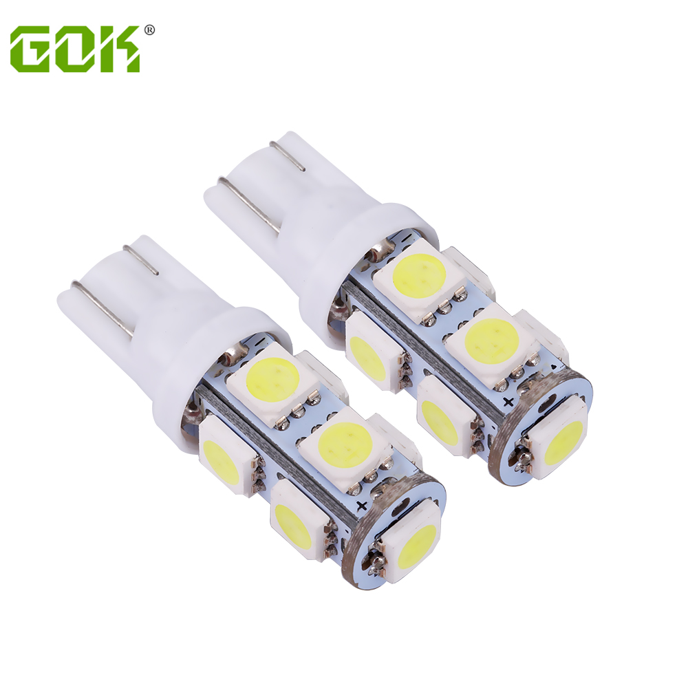 10 stücke T10 led 9SMD led 5050 Auto t10 194 168 192 W5W LED-Licht t10 9led Automobil-birnen-lampen-keil-innenlicht Lampe birne