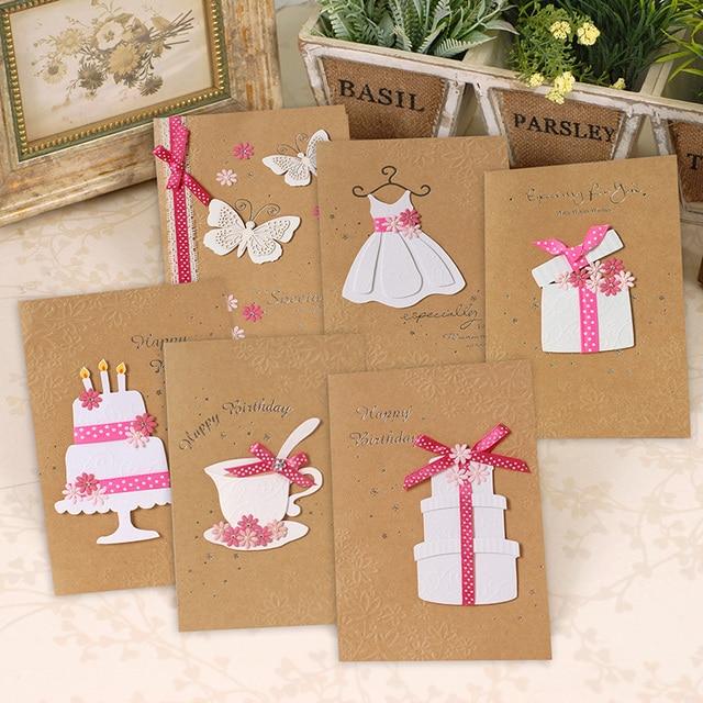 Creative Kraft Paper Birthday Greeting Card SetMulti Purpose Handmade Set
