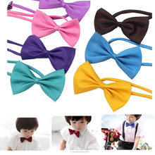 New Style Children Bowtie Polester Bowties Baby Girl Kids Classical Pet Butterfly Wedding Party Pet Bowtie Tuxedo Bow tie(China)