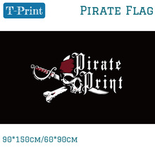 Free shipping 90*150cm 60*90cm 3x5ft Halloween Pirate Skull Flag Banner Made Game Shipping