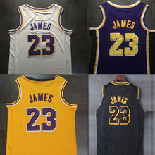 640aefaa092 High quality embroidery LeBron James Jerseys Basketball Jersey Lebron Jersey  #23 Yellow king james(