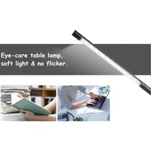 USB LED Lamp Smart Touch Portable  Flexible Eye-care LED Reading Light Adjustable Solid Clip Desk Lamp for Laptop Bedroom Study