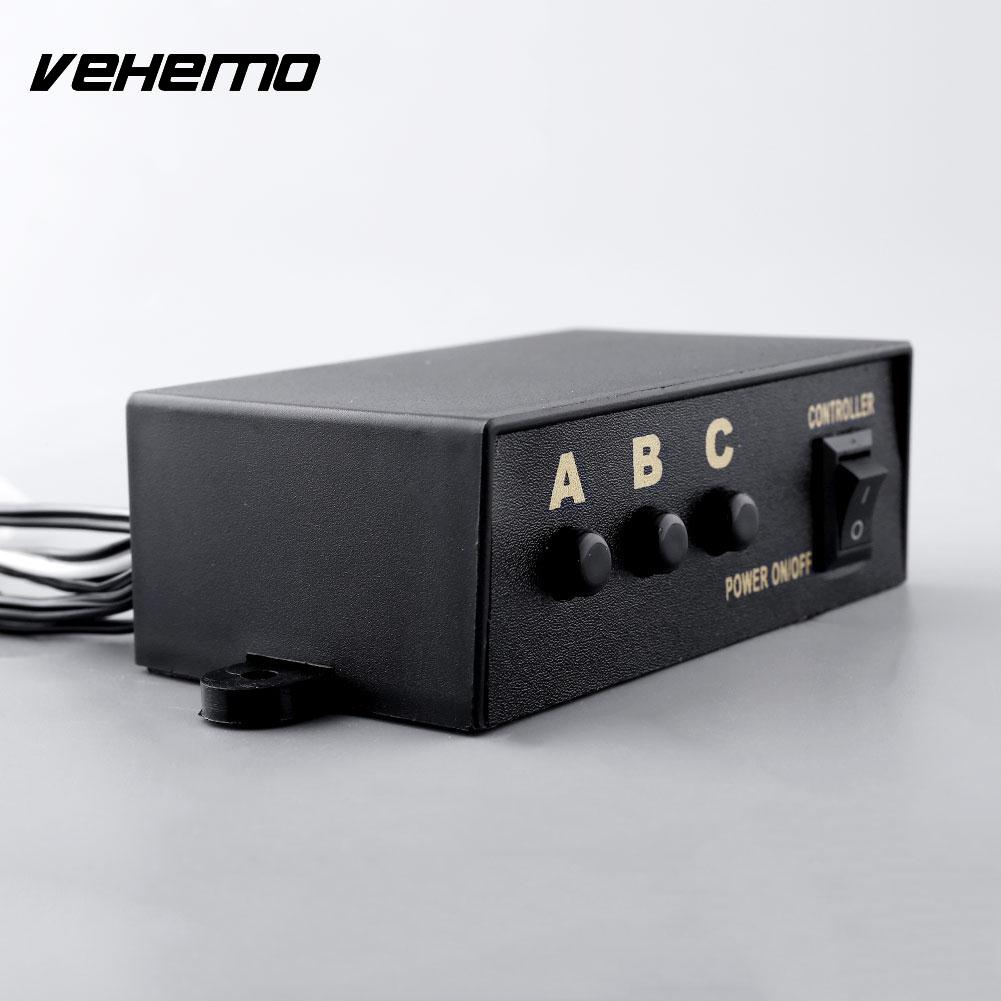 Vehemo New High Quality Universal LED Strobe Flash Light Flashing 3 Modes Controller Box for DC12V Car Truck
