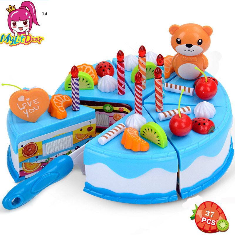 Toys & Hobbies Shop For Cheap Children Kids Wooden Pretend Play Birthday Cake Toy Kids Cutting Cake Pretend Play Food Toys Early Educational Christmas Gift Puzzles & Games