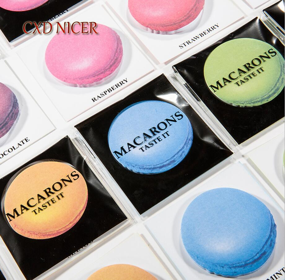 Korea Version Macaron Dessert Sticky Notes N Times Posted Message Memo Pad Decorative Index Stickers DD2695